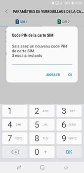 Samsung Galaxy A6 - Sécuriser votre mobile - Personnaliser le code PIN de votre carte SIM - Étape 10