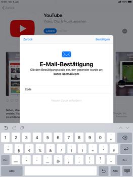 Apple iPad Air 2 - iOS 12 - Apps - Konto anlegen und einrichten - Schritt 22