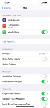 Apple iPhone XS Max - iOS 14 - E-mail - 032b. Email wizard - Yahoo - Step 4