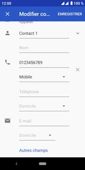 Crosscall Core M4 - Contact, Appels, SMS/MMS - Ajouter un contact - Étape 9