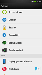 HTC One Mini - Mobile phone - Resetting to factory settings - Step 4
