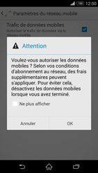 Sony Xperia Z3 - Internet et roaming de données - Comment vérifier que la connexion des données est activée - Étape 7