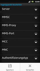 Sony Xperia U - MMS - Manuelle Konfiguration - 0 / 0