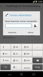 Sony Xperia Z1 Compact - Anrufe - Rufumleitungen setzen und löschen - 7 / 9