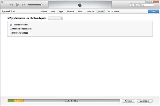 Apple iPhone 11 - Photos, vidéos, musique - Récupérer vos contenus multimédias avec un ordinateur - Étape 7