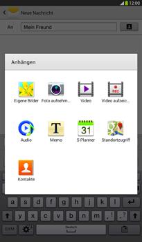 Samsung Galaxy Tab 3 7-0 - MMS - Erstellen und senden - 0 / 0