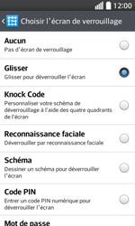 LG F70 - Sécuriser votre mobile - Activer le code de verrouillage - Étape 7