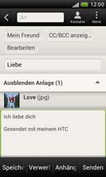 HTC Desire X - E-Mail - E-Mail versenden - 14 / 16