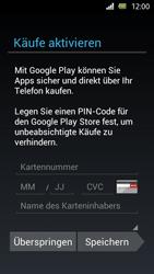 Sony Xperia U - Apps - Einrichten des App Stores - Schritt 13