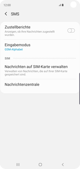 Samsung Galaxy S10 - SMS - Manuelle Konfiguration - Schritt 9