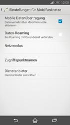 Sony Xperia Z3 - Ausland - Im Ausland surfen – Datenroaming - 8 / 12
