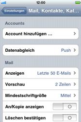 Apple iPhone 3G - E-Mail - Konto einrichten - Schritt 4