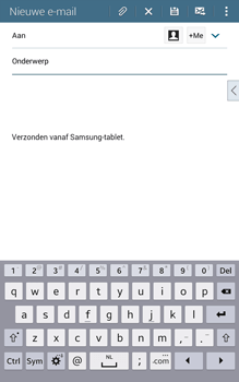 Samsung Galaxy Tab4 8.0 4G (SM-T335) - E-mail - Hoe te versturen - Stap 5