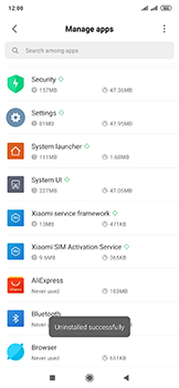 Xiaomi Mi Mix 3 5G - Applications - How to uninstall an app - Step 7