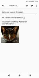 Sony Xperia XZ2 Compact - e-mail - hoe te versturen - stap 14