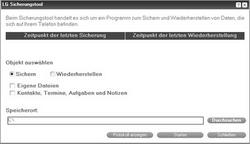 LG KP500 Cookie - Software - Sicherungskopie Ihrer Daten erstellen - Schritt 5