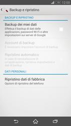 Sony Xperia Z3 Compact - Dispositivo - Ripristino delle impostazioni originali - Fase 6