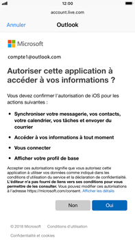 Apple iPhone 7 Plus - iOS 12 - E-mail - Configuration manuelle (outlook) - Étape 8
