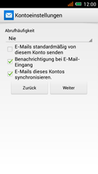 Alcatel One Touch Idol Mini - E-Mail - Manuelle Konfiguration - Schritt 22