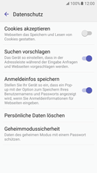 Samsung Galaxy S7 - Datenschutz und Sicherheit - Datenschutzeinstellungen des Browsers ändern - 17 / 18