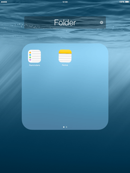 Apple iPad mini - iOS 8 - Getting started - Personalising your Start screen - Step 7