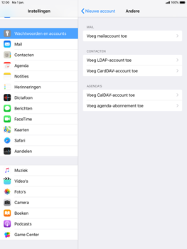 Apple ipad-air-2-ios-12 - E-mail - Account instellen (IMAP met SMTP-verificatie) - Stap 6
