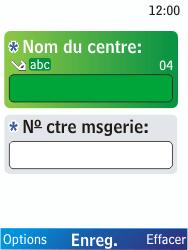 Nokia X2-00 - SMS - Configuration manuelle - Étape 8