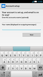 Alcatel One Touch Idol S - E-mail - manual configuration - Step 24