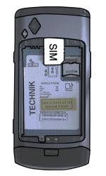 Samsung S8500 Wave - SIM-Karte - Einlegen - Schritt 3