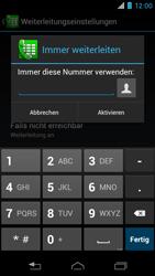 Motorola RAZR i - Anrufe - Rufumleitungen setzen und löschen - 7 / 10
