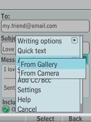 Nokia 301-1 - E-mail - Sending emails - Step 14