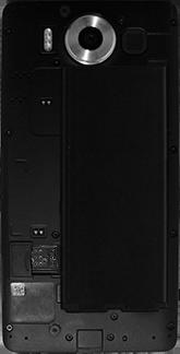 Microsoft Lumia 950 - Primeros pasos - Quitar y colocar la batería - Paso 4