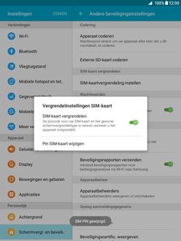 Samsung Galaxy Tab A 9.7 (SM-T555) - Beveiliging en ouderlijk toezicht - Hoe wijzig ik mijn SIM PIN-code - Stap 11