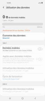 Samsung Galaxy A21s - Internet et connexion - Désactiver la connexion Internet - Étape 7