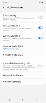 Samsung Galaxy Note 20 5G - Network - How to enable 4G network connection - Step 6