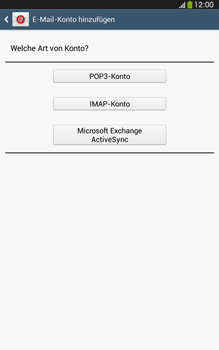 Samsung Galaxy Tab 3 8-0 LTE - E-Mail - Manuelle Konfiguration - Schritt 7