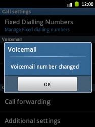 Samsung S5300 Galaxy Pocket - Voicemail - Manual configuration - Step 7