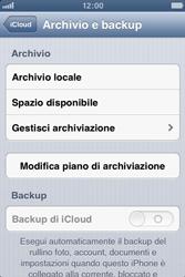 Apple iPhone 4S - Applicazioni - Configurazione del servizio Apple iCloud - Fase 10