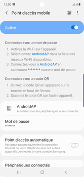 Samsung Galaxy Note 10 - WiFi - Comment activer un point d'accès WiFi - Étape 12