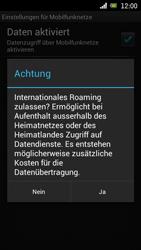 Sony Ericsson Xperia Ray mit OS 4 ICS - Ausland - Im Ausland surfen – Datenroaming - 10 / 12