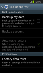 Samsung Galaxy Express - Mobile phone - Resetting to factory settings - Step 5