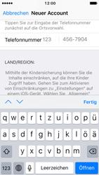 Apple iPhone SE - iOS 10 - Apps - Konto anlegen und einrichten - Schritt 22