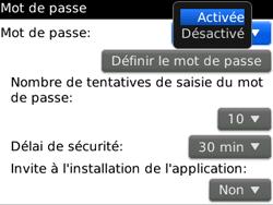 BlackBerry curve 3G - Sécuriser votre mobile - Activer le code de verrouillage - Étape 6