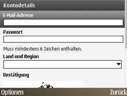 Nokia E72 - Apps - Konto anlegen und einrichten - Schritt 12