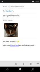 Microsoft Lumia 950 - E-mail - Sending emails - Step 15