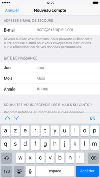 Apple Apple iPhone 6s Plus iOS 10 - Applications - Créer un compte - Étape 14