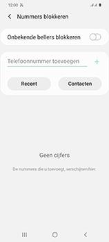 Samsung Galaxy S20 5G Dual-SIM eSIM SM-G981B - Beveiliging en ouderlijk toezicht - Nummer blokkeren - Stap 7
