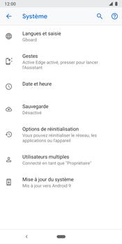 Google Pixel 3 - Aller plus loin - Restaurer les paramètres d'usines - Étape 6