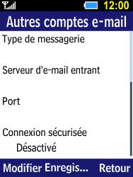 Samsung B550H Xcover 550 - E-mail - Configurer l