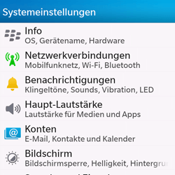 BlackBerry Q10 - Netzwerk - Manuelle Netzwerkwahl - Schritt 4